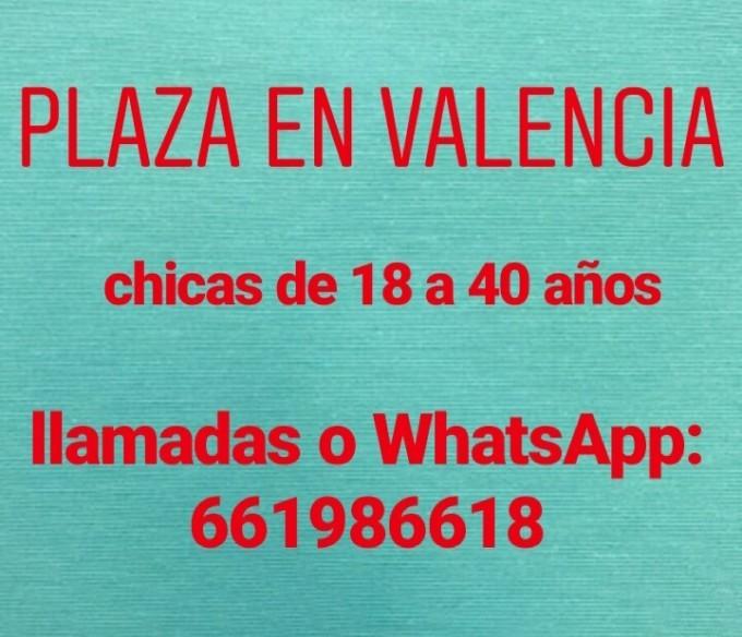 661986618 - PLAZA EN VALENCIA, CHICAS DE 18 A 40 AÑOS - milescorts.es